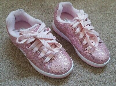 Pink Sparkly Glittery Heeleys, Size 13. Tried on, but never worn outdoors.