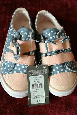 Primark childs pink and blue canvas shoe size 7