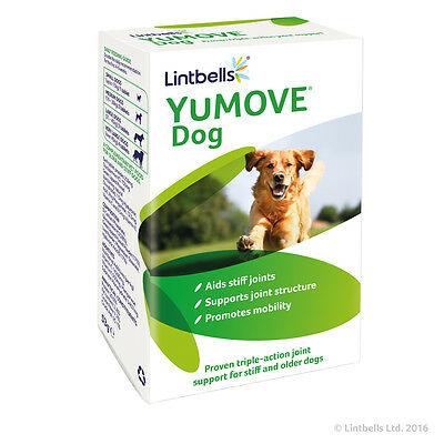 LINTBELLS YuMOVE Dog 60 Tablets - Supplement For Stiff & Older Dogs BEST PRICE!!