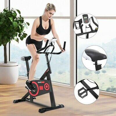 Indoor Exercise Bike Stationary Bicycle Cardio Fitness Workout Gym & Home