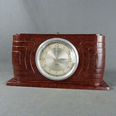 French Original Art Deco Bakelite Alarm Clock from JAPY Made in France c.1930's