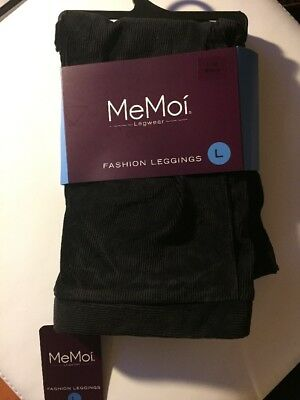 MeMoi Legwear Girls Large 7/8-10 corduroy leggings Black NEW