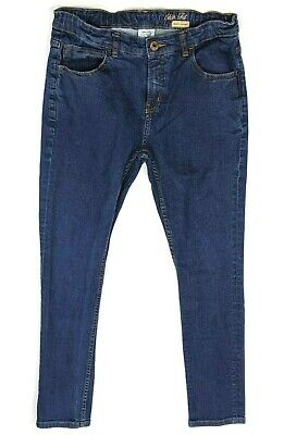 ZARA BOYS blue jeans age 13 - 14 years adjustable waist trousers <W241