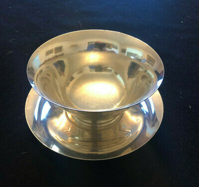 B&M BALDWIN MILLER Sterling Silver Set of Bowl and Saucer
