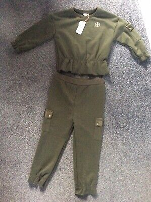 River Island Girls Age 3-4 Trousers And Jumper Set