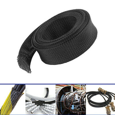 5M Tight Gland PET Braid Sleeving Protection Cable Insulation Wire