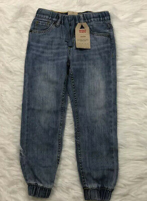 Levis Jogger Little Boys Denim Pants With Elastic Cuff In Ankle Size 6 $42
