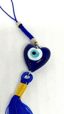 Blue Bead Glass Evil Eye Car Mirror Accessories, Wall Hanging , Keyring Pendant