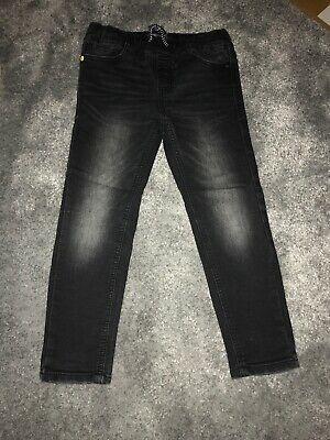 Boys Black Next Stretchy skinny fit jeans age 6 years Hardly Worn