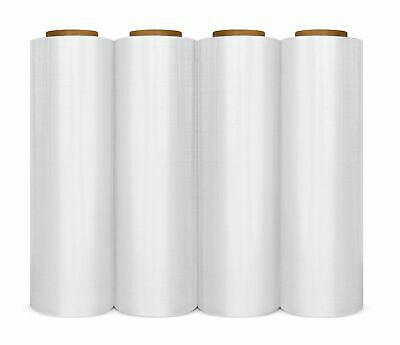 "4 Rolls 18""x 1500SQ FT 80 Gauge Pallet Wrap CLR Stretch Film Shrink Hand Wrap"
