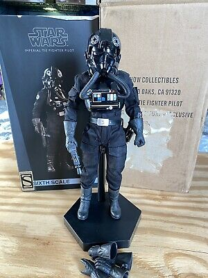 Sideshow Exclusive Star Wars Imperial Tie Fighter Pilot 1/6 Figure