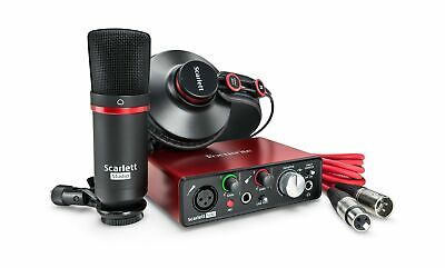 Focusrite Scarlett Solo Studio (2nd Gen) USB Audio Interface and Recording Bu...