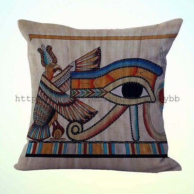 US Seller-pillow cushion covers eye of Ra Ancient Egyptian cushion cover