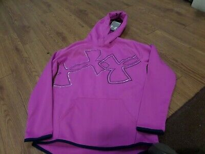 BNWT-  Girls UNDER ARMOUR   coldgear Hoodie! Size Ylg Loose Fit