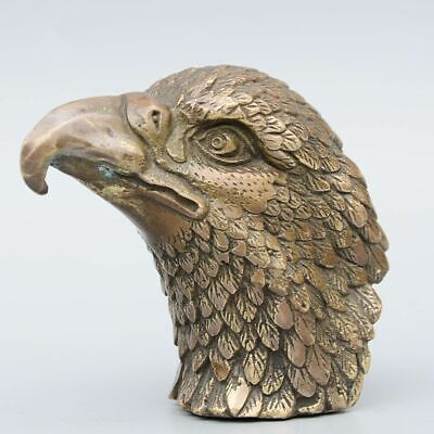 Collect China Antique Bronze Hand-Carved Fierce Eagle Delicate Decorate Statue