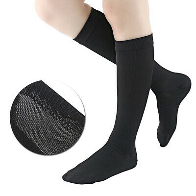 Mens Womens Compression Stockings Sweat-absorption Long Sports Running Socks