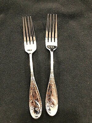Two (2) Japanese Bird and Bamboo by Ricci Stainless Place Forks - New