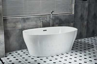 Bathroom Acrylic Free Standing Bath Tub Thin Edge 1500x800x500 Model Ancona
