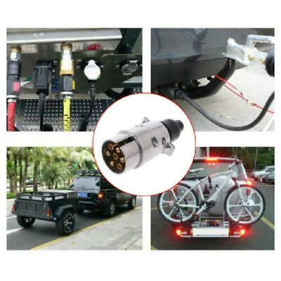 7 Pin 12V Aluminium Alloy Plug Trailer Truck Towing Electrics Connector EU Plug