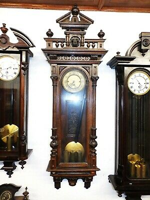 Three Weight Grand Sonnerie Wall Clock Regualtor Only For Parts Or Restauration