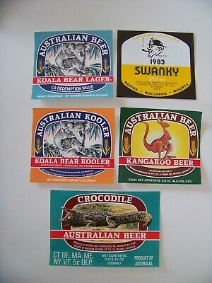 Northern Brewing Company – Mildura early 1980's Beer Labels (x5)