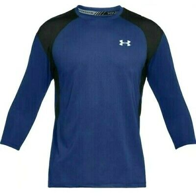 Under Armour Coolswitch 3/4 Sleeve Fitted Running Shirt - 1313998 574 - Men's M