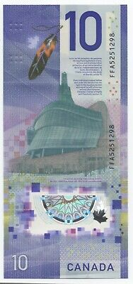CANADA $10 / POLYMER 2018 / Used VF condition / Special Commemorative Issue