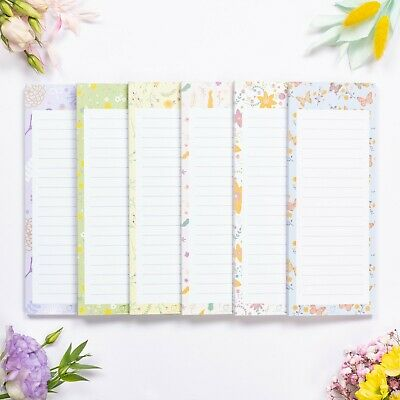 Magnetic Shopping List, Grocery & To Do List Floralnotes Notepads 60 Sheets 2 pk