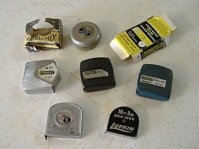 Vintage Mini Measuring Tapes Various Brands Inches Feet Yards Imperial Metric