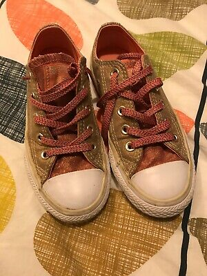 Converse All Star Metallic Gold And Pink, UK Size 11 infant