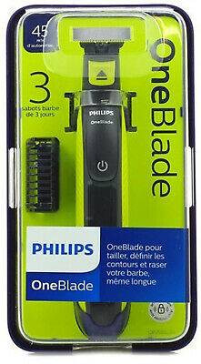 Philips One Blade Visage Rasoir Lame Oneblade 3 Sabots Barbe QP2520/20 Neuf
