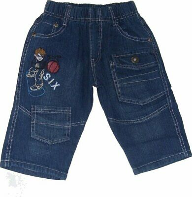 Boys Jeans Blue Sport Skater Embroidery Cropped Summer Holiday Denim Jeans.2-14y