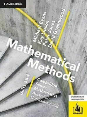 Cambridge Mathematical Methods VCE Unit 3/4 (PDF Worked Solutions)