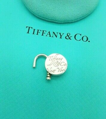 Tiffany & Co Sterling Silver Note Round Lock Padlock Pendant Charm ONLY
