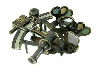 Navel Gifts Antiqued Brass Sextant Kelvin & Hughes Replica