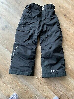 COLUMBIA Kids Black OMNI HEAT Winter Ski Sports Snow Trousers Pants - Outgrown