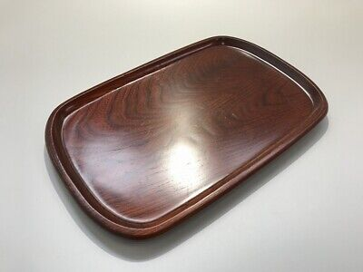 Japanese Wooden Tray Obon Vtg Plate Lacquer Ware Nurimono Rectangle i345