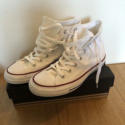 Genuine Converse All Star Hi White high tops size 5.5 Unisex New In Box