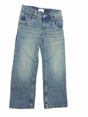 Boys Blue Dirty Wash Crinkle Effect Straight Leg Cotton Denim Jeans Trouser.4-6Y