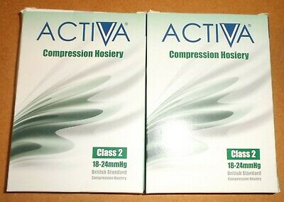 2 Pair Activa CLASS2 Below Knee Support Hosiery18-24mmHg Extra Large colour Sand