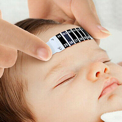 10x Safe Baby Kid Forehead Strip Head Temperature Test Thermometer Sticker Well