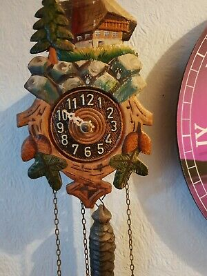 Wooden Carved  Clock - all complete - not working - needs hand