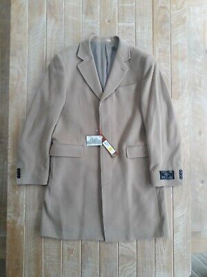 Mens Marks & Spencer Luxury Collezione Camel Coat new Wool m&s large bnwt
