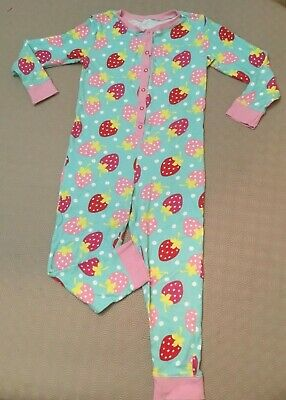 Girls Strawberry Print One Piece Sleepsuit From George  Age 7-8 Years