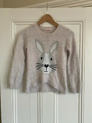 Girls Pale Pink Bunny Rabbit Super Soft Jumper From Bluezoo Age 8-9 Years