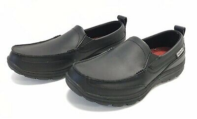 Skechers for Work Mens Hobbes Relaxed Fit Slip Resistant Shoe Pick SZ//Color.