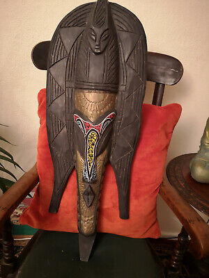 """Stunning Large Wooden Carved Ethnic Deity?- Very Heavy-Indonesian?-31"""" Tall"""
