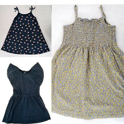Girls Bundle 3 X Spring/ Summer Strappy Cotton Dresses La Redoute / Gap Age 5