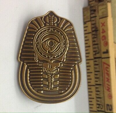 Grateful Dead Pin    steal your face SKULL  SPHINX Egypt Egyptian bronze