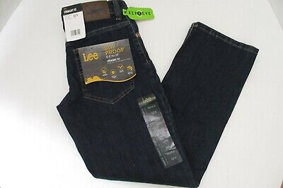 NWT Lee Boys Straight Leg Fit Blue Jeans Boy Proof  Adjustable Waist Sz 12 SLIM